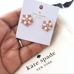 ♠️ Kate Spade Chantilly Charm Rose Gold Earrings